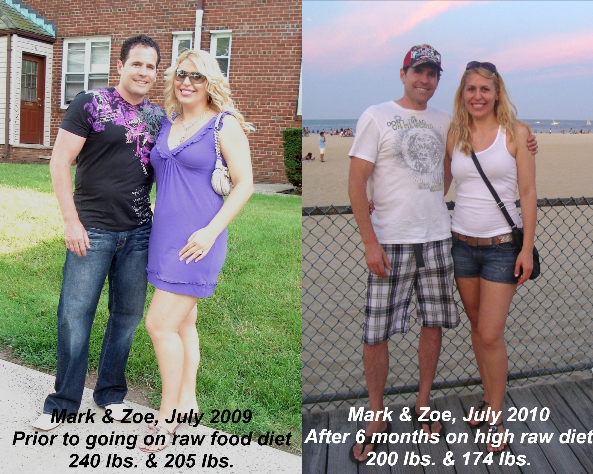 My Raw Food Transformation Before After